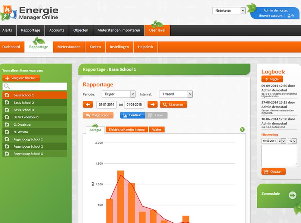 Energiemanager Energiemanager Online Zakelijk